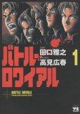バトルロワイヤル、コミック1巻です。漫画の作者は、田口雅之です。